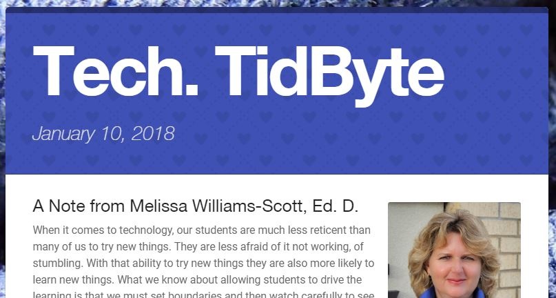 January 10, 2018 Tech Tidbyte e-newsletter