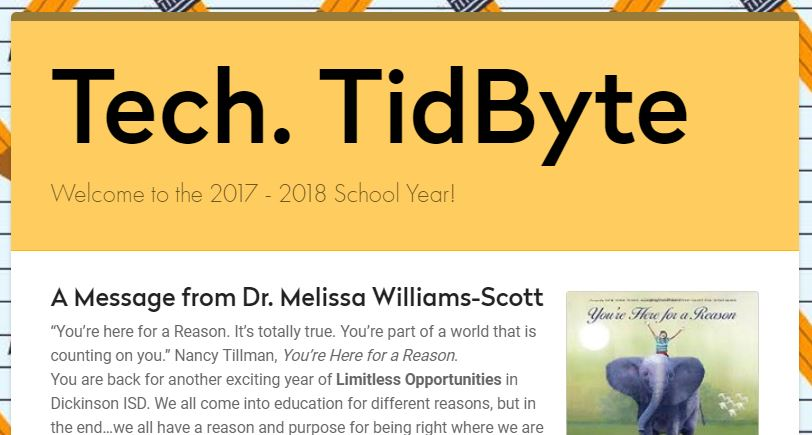 August 2017 Tech Tidbyte e-newsletter