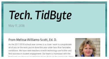 May 11, 2018 Tech TidByte eNewsletter