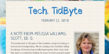 February 22, 2018 Tech Tidbyte e-newsletter