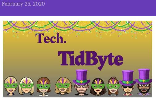 February 2020 Tech TidByte enewsletter