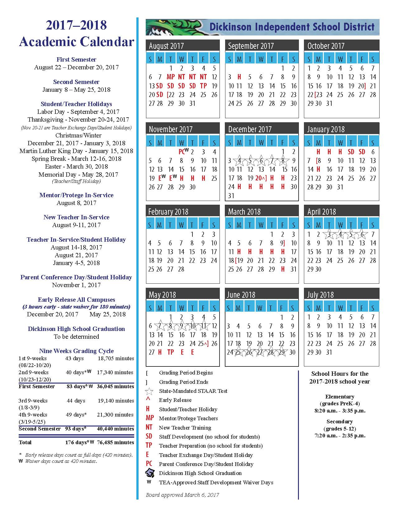 Houston area school districts for Deer park isd calendar